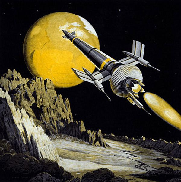 Rare Wonderful 1950s Space Art: Retro Futurism